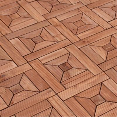 别墅庭院木地板别墅三拼实木地板效果图图片15