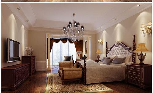 叠加别墅,一层+二层+地下层欧式家庭装潢效果图