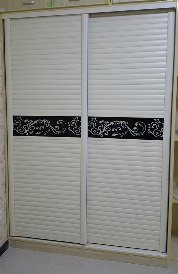 欧式木塑板衣柜门移门橱柜门百叶板推拉门壁柜门折叠