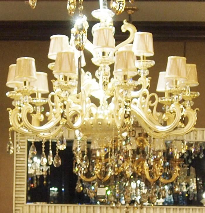 欧普照明 带灯罩 水晶灯 吊灯 客厅灯 蜡烛灯图片
