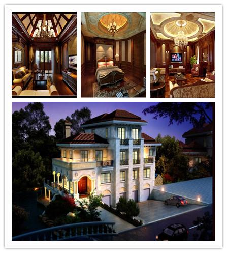 巧家装饰设计-西郊多层别墅美式装修效果图