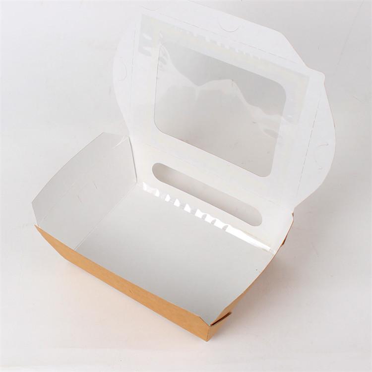 8x12,高6cm 材质:390g食品级防油牛卡纸 pet贴窗,食品级餐盒 数量:100