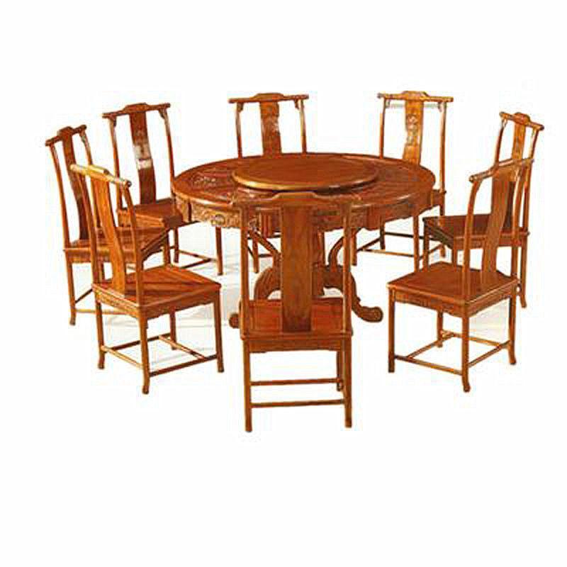 收藏品 红木家具 > 施佳红木 餐桌椅系列 圆桌      红木家具适宜阴湿
