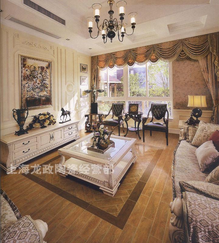 客廳仿古磚臥室防木磚效果圖