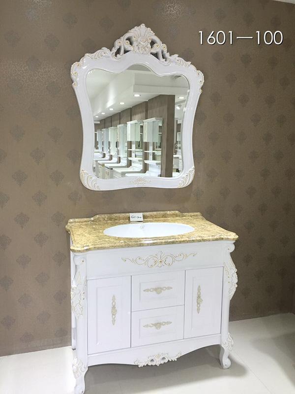 仿大理石陶瓷盆欧式浴室柜