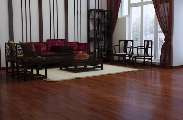 红檀楿实木地板 圆盘豆系列hs-py91