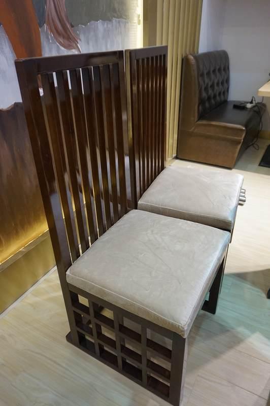 德胜新中式家具 条纹中式高背椅