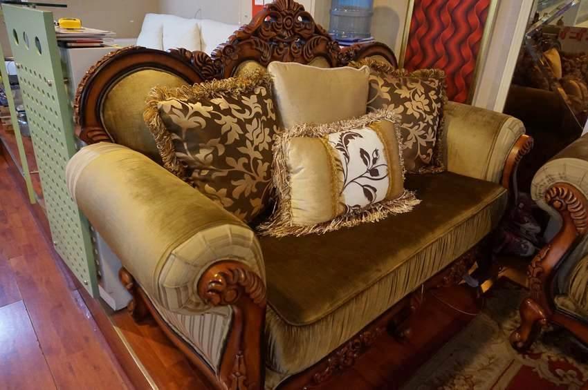 皇阁雅轩 布艺沙发 欧式客厅组合沙发