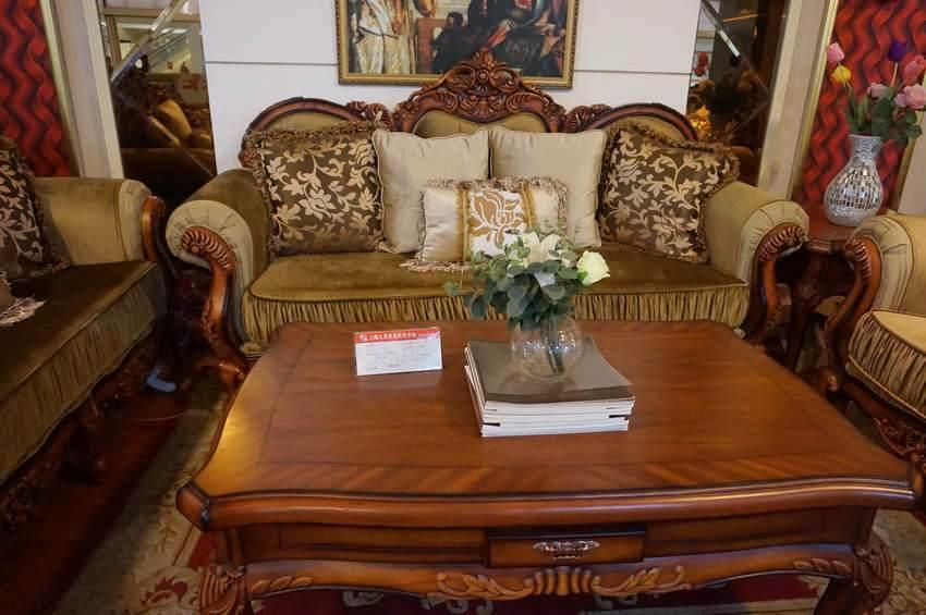 布艺沙发 欧式客厅组合沙发