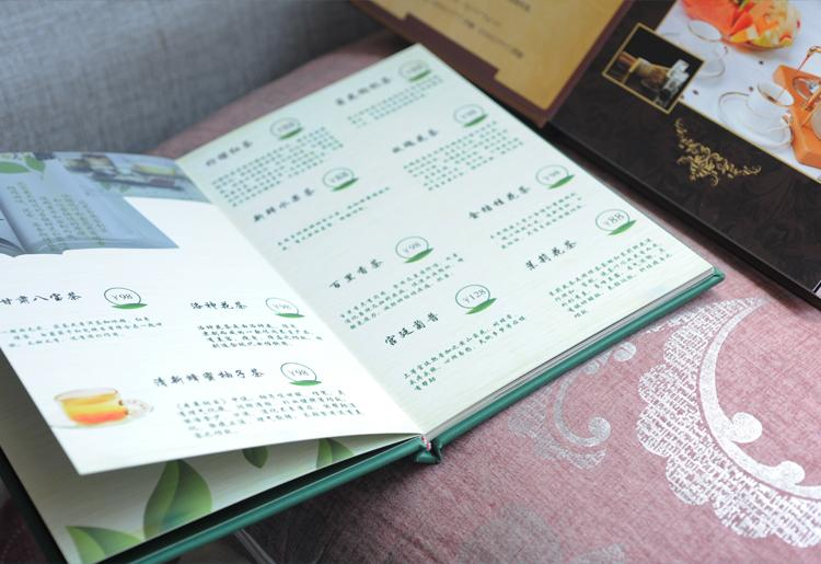 定制高档菜谱本制作设计菜单蝴蝶精装皮质活页咖啡酒吧西餐菜谱本