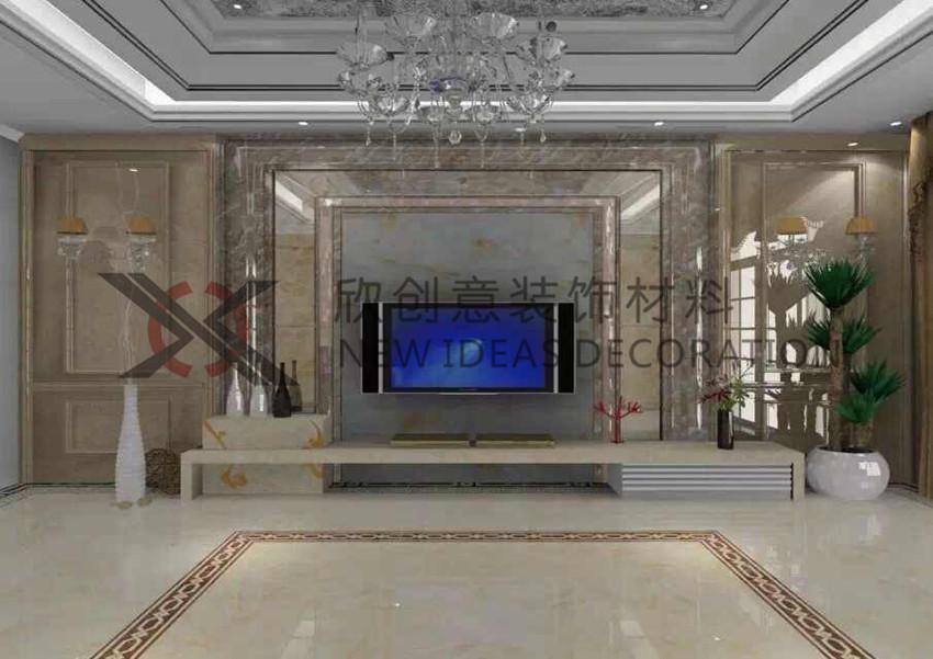 仿大理石 餐厅沙发背景墙线 装饰线条 门套线窗线 收口线