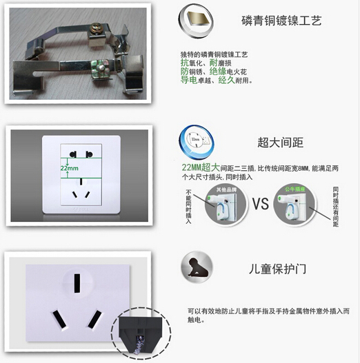 公牛开关插座面板两位电脑插座双口网线网络网口接口