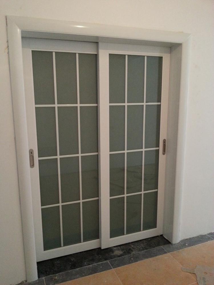客廳隔斷推拉門陽臺鈦鎂合金移門中空雙層鋼化玻璃烤漆臥室門